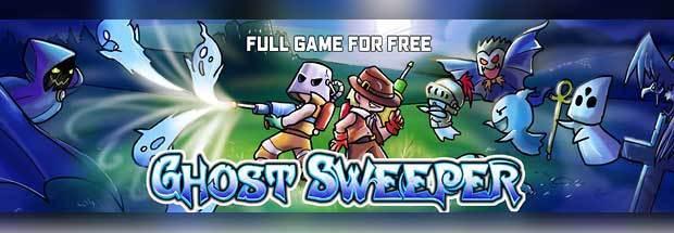 PCゲーム無料配布『Ghost Sweeper』ブロック設置型のレトロゲーム風2Dパズルアクション +『Cosmic Pioneer』 Indie Gala